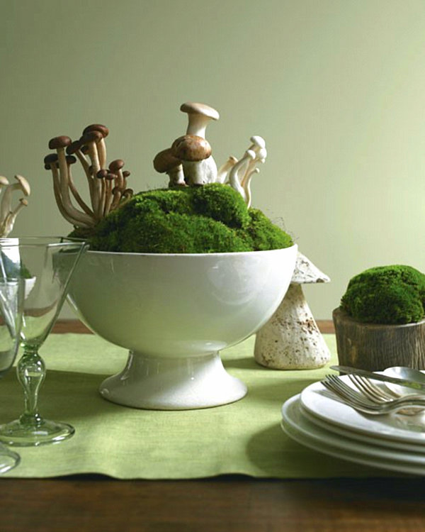 Centerpiece Of Dining Table To Create Inspiring Dining Room : Woodland Centerpiece