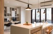 Fantastic Homey Contemporary Apartment Drive You Endure Staying There : Work Space Next To The Kitchen