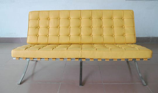 Yellow Sofas And Its Many Designs: Yellow Barcelona Sofa Modell