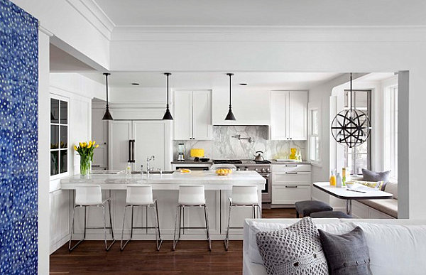 Wonderful Kitchen Decor To Make It As Attractive Vocal Point In The House: Yellow Decorative Accents In A Modern Kitchen