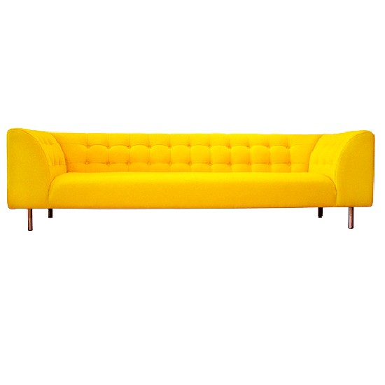 Yellow Sofas And Its Many Designs: Yellow Fabric Sofa