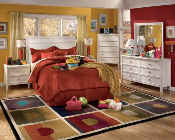 Modern Youth Bedroom Furniture For Best Decorating Ideas: Youth Room With White Caspian Furniture Set ~ stevenwardhair.com Bedroom Design Inspiration