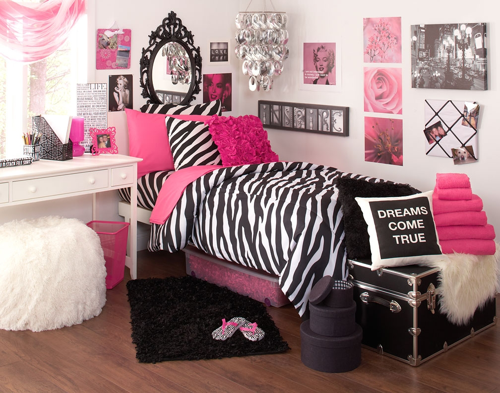 Interesting Zebra Room Accessories For Nice Decoration: Zebra Deep Pink Ideas