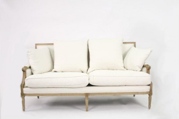 White Sofas With Unique Ambiance: Zentique Louis Sofa In White Linen Traditional Sofas ~ stevenwardhair.com Sofas Inspiration