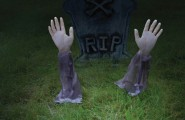 Halloween Light Effect Idea For The Halloween Event : Zombie Arm Lawn Stakes