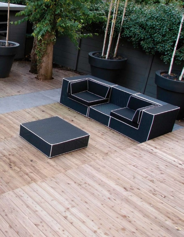 Wicker Outdoor Furniture: Choosing The Right One : Black And White Outdoor Wicker Furniture Haute Terasse By Borek