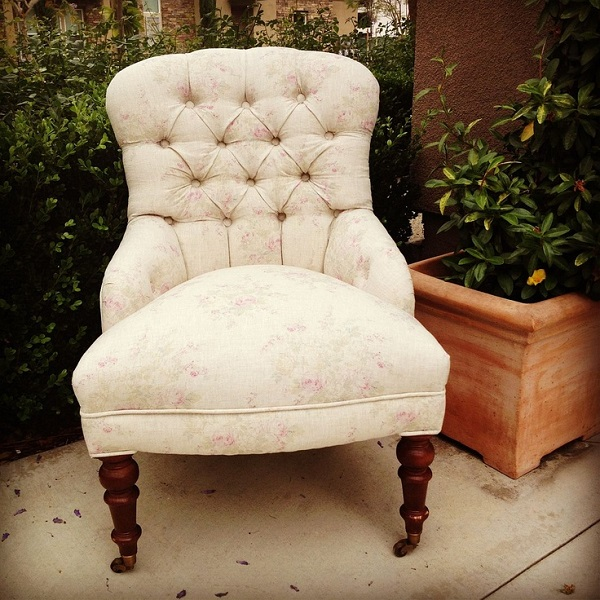 12 Inspiring DIY Chair Upholstery Ideas: What Is DIY Upholstered Chair With Beige Color And Floral Pattern