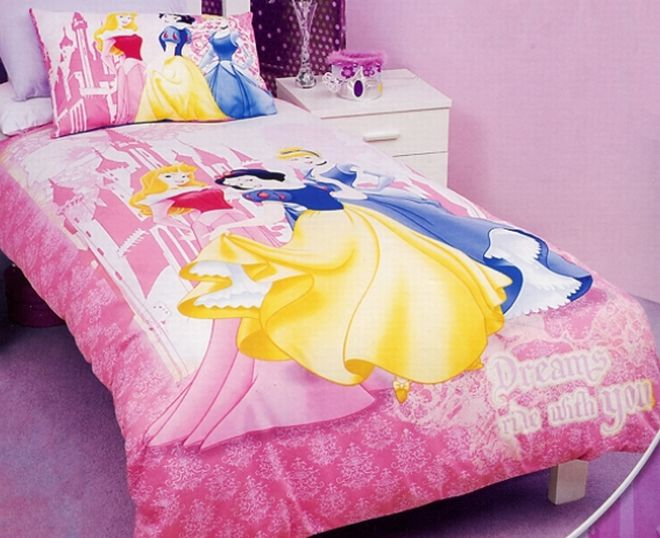 Sweet Princess Comforter With Smooth Comfortable Design : Wonderful Dreams Ride With You Bedding Set From Disney